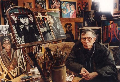 Peter Crosland in his studio
